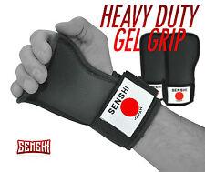 SENSHI Peso Sollevamento CINGHIE SUPPORTO Palm PADS Formazione Guanti Wraps GYM HAND