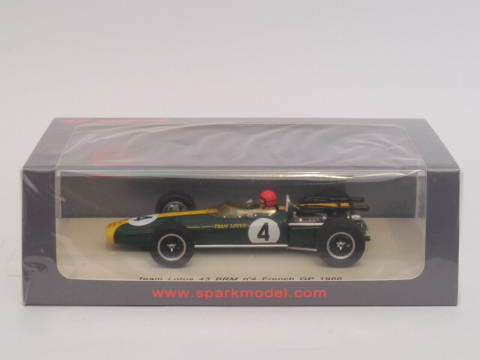 1  43 Spark S2142  Lotus 43 BRM    4  Peter Arondell  1966 French GP  nouvelle marque