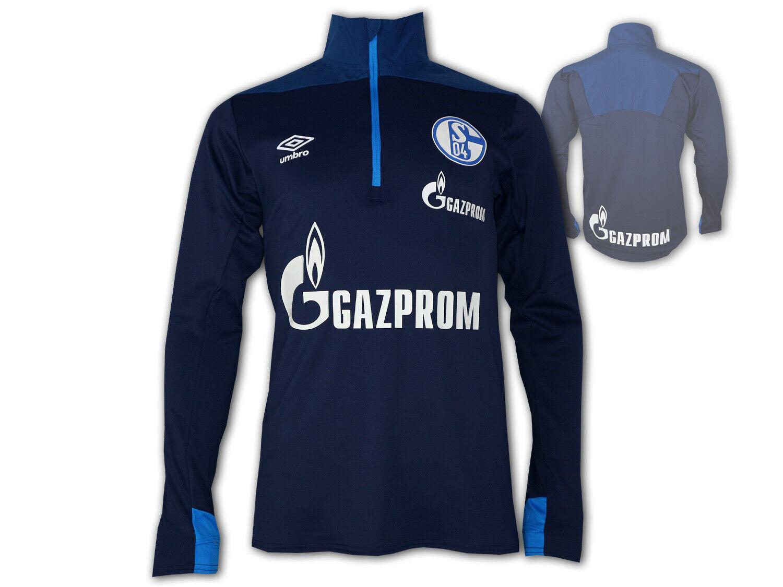 Umbro FC Schalke 04 Entraînement Top Demi Fermeture Éclair bluee S04