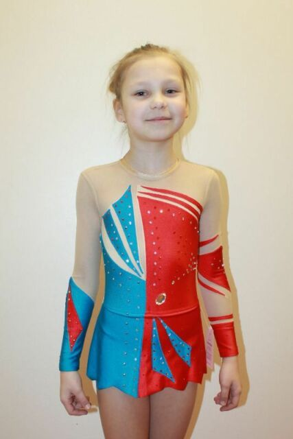 f33b6e7af Details about Studio White Shark 270-37 Gymnastics Ice Skating Leotard Girl  5 Years Size XS