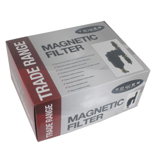 Magnetic Boiler Filter 22mm Inline Central Heating Pipe In Line Energy Save x 2