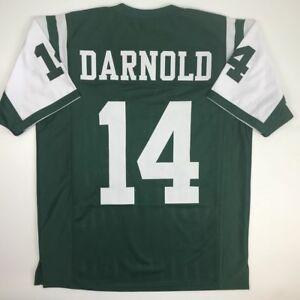 best sneakers a84a7 1b66d Details about New SAM DARNOLD New York Green Custom Stitched Football  Jersey Size Men's XL