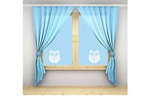 OWL VINYL ETCH PATIO/ DOOR/ WINDOW/ MIRROR FROSTED GLASS ART STICKERS