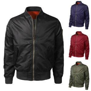 Cool-Hot-Men-Spring-Autumn-Winter-Casual-Solid-Slim-Bomber-Jacket-Zipper-Outwear