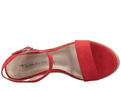 Tamaris Red Superlite sottopiede It Espadrillas Canvas con Touch con zeppa 28300 Sandali EpFfHqc