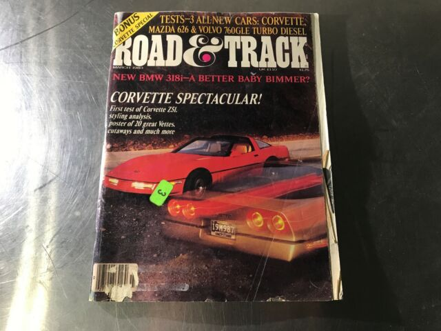 Road & Track Magazine March 1983 Corvette Spectacular BMW 318i