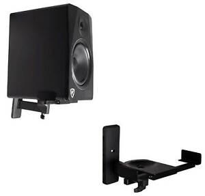 2-Rockville-Wall-Mount-Swivel-Brackets-For-Mackie-MR824-Studio-Monitor-Speakers
