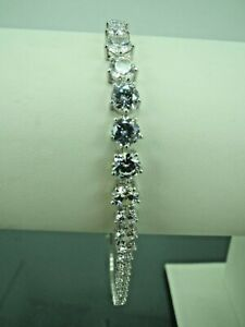 Turkish-Handmade-Jewelry-925-Sterling-Silver-Zircon-Stone-Ladies-039-Bracelet