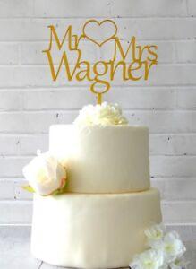 Figur Tortenstecker Holz Hochzeit Personalisiert Cake Topper Name