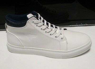 men's high top sneakers white comfort casual shoes with