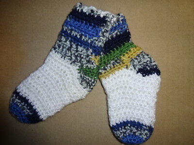Babysöckchen Gehäkelt Söckchen Socken Baby Weiß Blau Grau Fabriken Und Minen