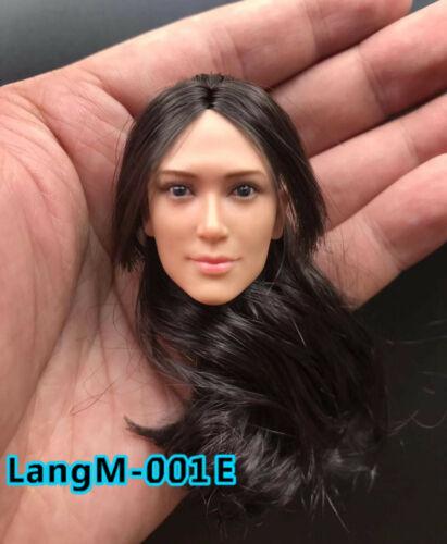 1//6 LangM-001E Asian Girl Head Sculpt Carved F 12inch Female PH TBL Figure Body