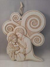 Albero della Vita Sacra Famiglia Bomboniera comunione cresima polvere marmo12x10