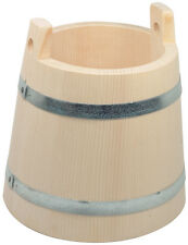 Saunakübel Aufgusskübel Kübel Bottich 2 Griffe 1 Liter Höhe 17,5 cm Fichtenholz