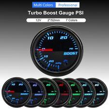 SNOWINSPRING 2 52mm Car Dial 30 PSI Pressure Vacuum Turbo Boost Pointer Gauge Blue LED Light
