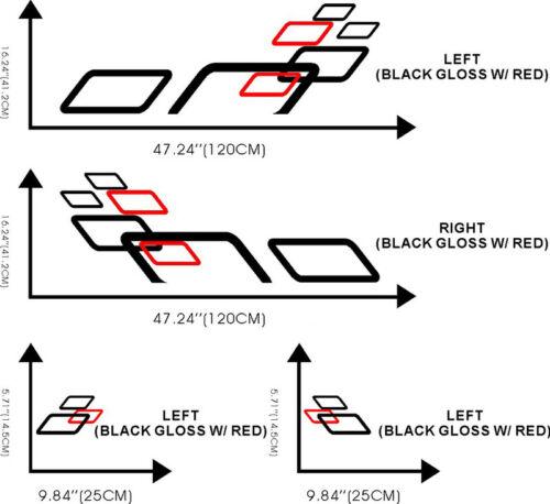 Car Squares Sport Racing Door Decals for AXELA  Vinyl Side Stickers #ZW2031