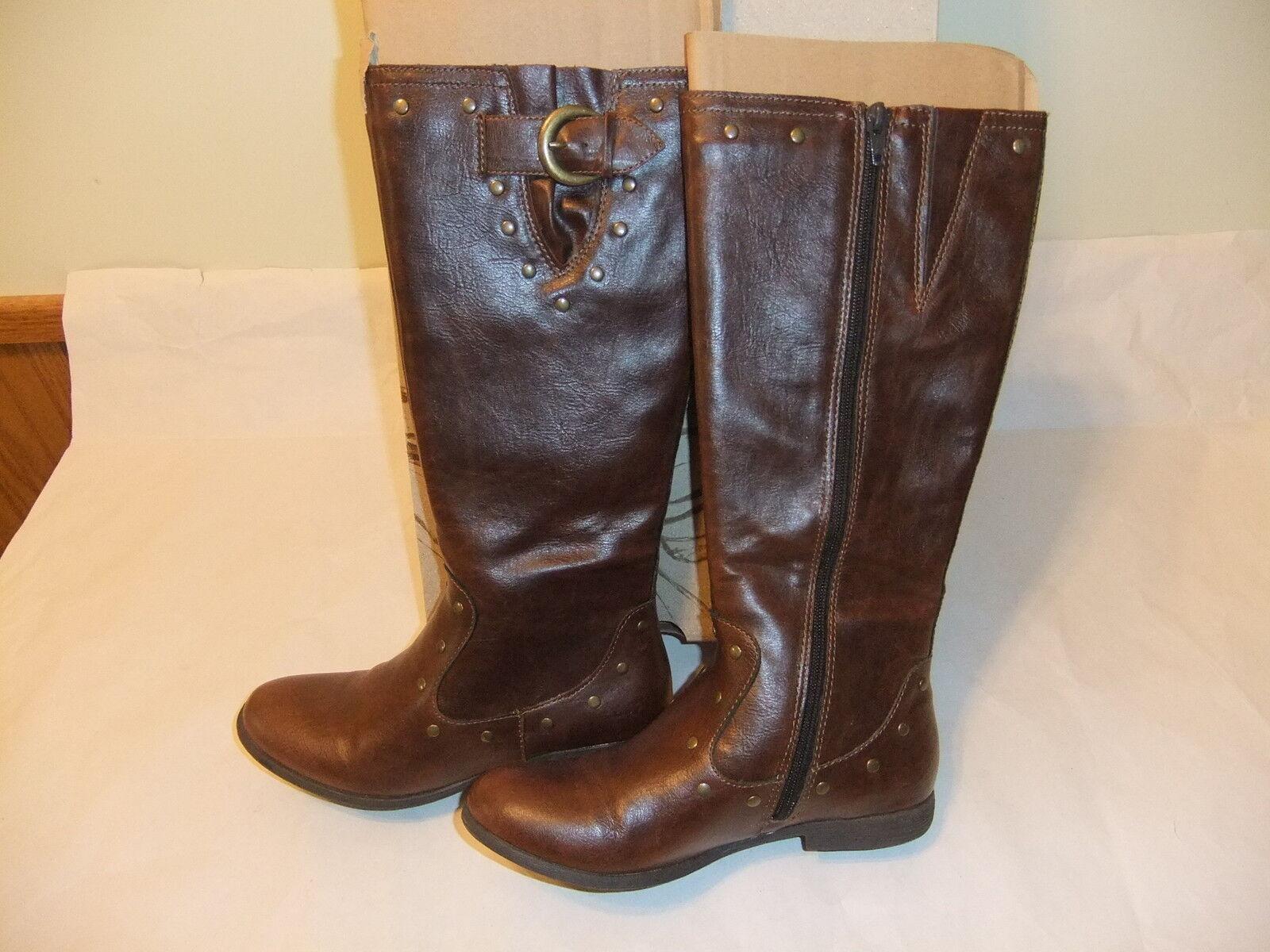 BORN Emilena Brown Fashion Knee High Boot Size 6.5 NIB
