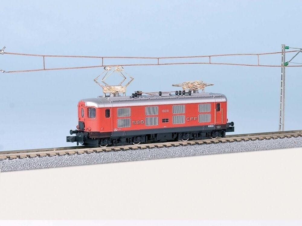 N Gauge - Kato E-Locomotive 4 4 10012 SBB Shuttle Train Version 11604 Neu