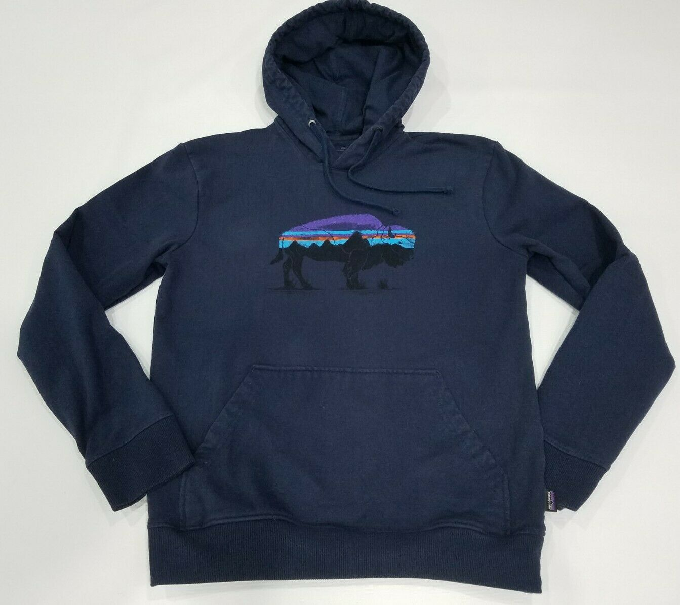 Patogonia Navy Blue Pull Over hoodie sweatshirt Size Small