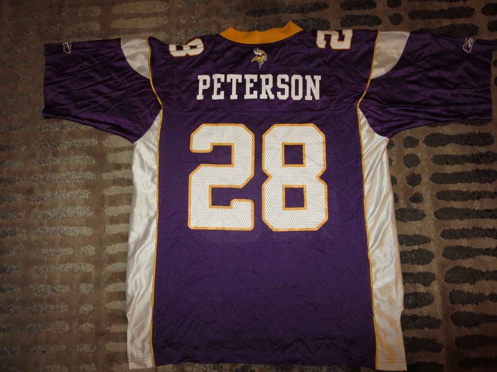 Adrian Peterson    28 Minnesota Wikinger NFL Reebok Trikot L  | Mangelware  5db3e4