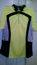 NWT DKNY Golf by JAMIE SADOCK Short Sleeve Golf Shirt - size M $89 Citron Canary
