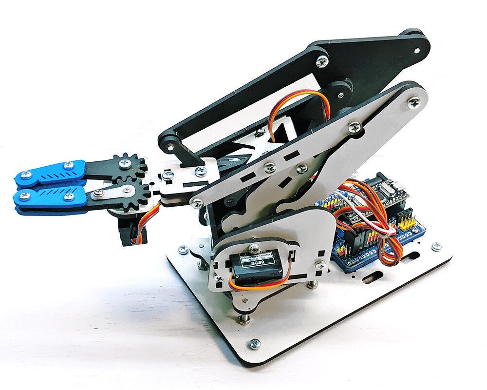 Kit de brazo robótico armuno + USB controlador compatible con Arduino + servos + Software