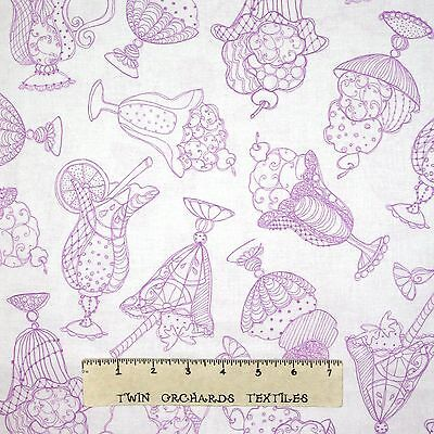 Quilting Treasures Sweetie Loralie Pink 100/% cotton fabric by the yard
