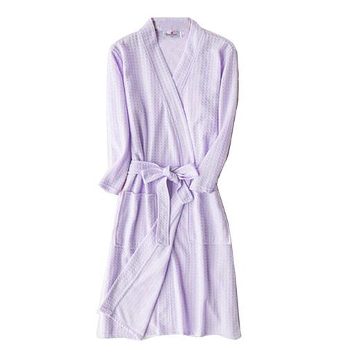 Loose Women Men Cotton Blend Long Night-Robe Sleepwear Bathrobe Spa Shower Robes