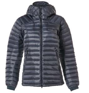RAB Mens Beluga /& Dijon Microlight Alpine Hooded Down Jacket Large L BNWT