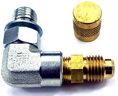 TWO  Ford 7.3L Powerstroke Fuel Pressure Test Port W// Adapter Schrader   valve