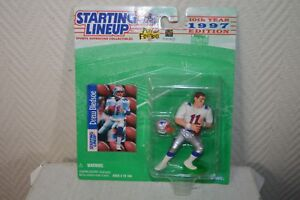 FIGURINE 1997 DREW BLEDSOE NEW ENGLAND PATRIOTS Starting Lineup  Kenner NEUF