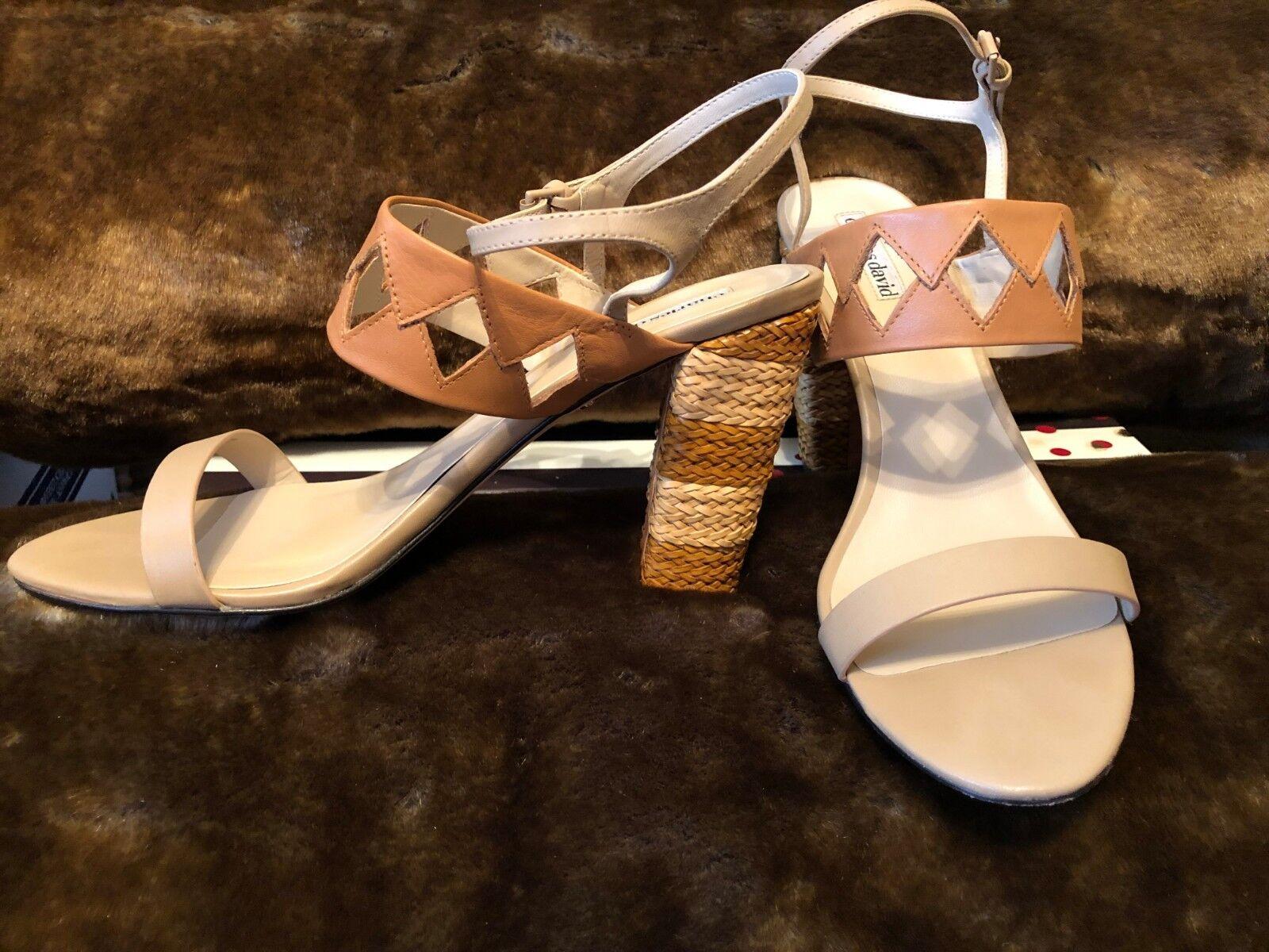 prezzi bassi Charles David JUNGLE Woven Nude Cognac Diamond Diamond Diamond Cutout Sandal Heel US 10 RV  170  garantito