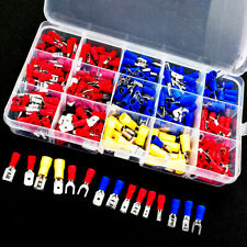 Insulated Connector Spade Terminal Assorted Set Crimp Electrical Kit 280pcs Wire