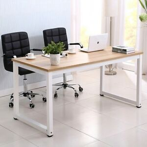 wood computer desk pc laptop table workstation study home office