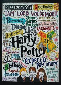 Harry Potter Movie Poster Photo Fridge Magnet 2x 3 Collectibles Ebay