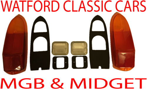 MGB and MG Midget Complete Rear light /& Reverse lens kit for years 1970-1980