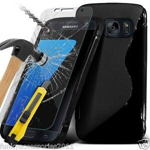 S-Line-Fin-TPU-Sport-Onde-Gel-etui-pour-telePhone-Prortecteur-D-039-ecran-Samsung
