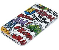 Schutzhülle f iPhone 4S 4 4G Tasche Case Hard Cover Bumper Schale Comic Boom