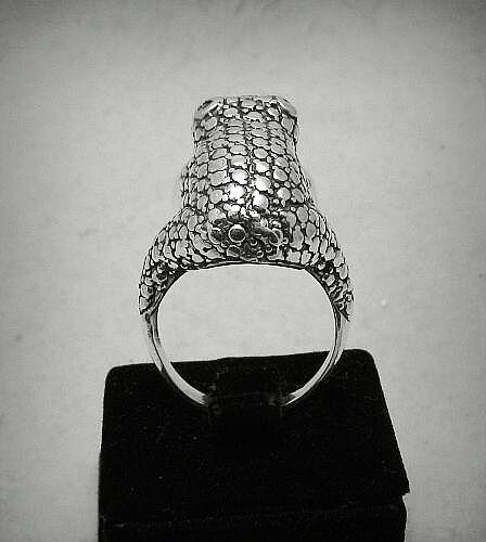 Sterling silver ring huge Frog solid 925 R000752 EMPRESS