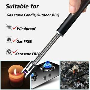 Accendino elettrico tubo flessibile ricarica usb senza fiamma barbecue antivento