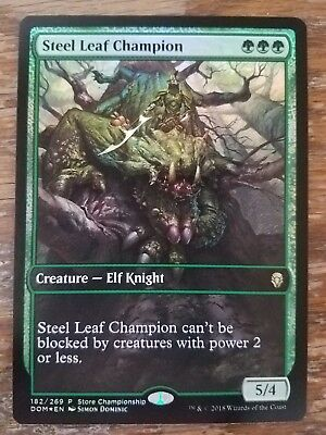 FOIL Steel Leaf Champion ~ Game Day PROMO ~ Dominaria ~ NearMint ~ Magic MTG