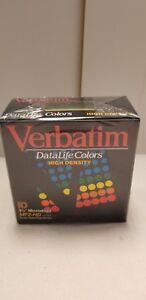 Verbatim-Datalife-Colors-3-1-2-034-Computer-Microdisks-MF2-HD-10-Disks-NEW-NOS