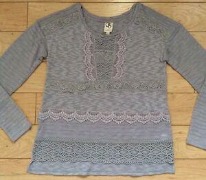 4ef8560fdd48 one.september Crocheted Heirloom Pullover Sweater Sz Medium NW ...