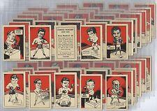 Full Set, D. Cummings, Famous Fighters 1949 EX (w14c37-420)