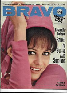 Bravo NO 24 of 1965 Pierre Brice, Robert Fuller, Mick Jagger, Claudia Cardinale