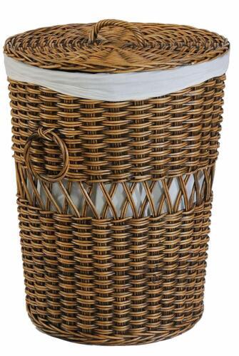 Laundry Basket Round Rattan Laundry Collector Laundry Tonne Laundry Box Laundry Chest