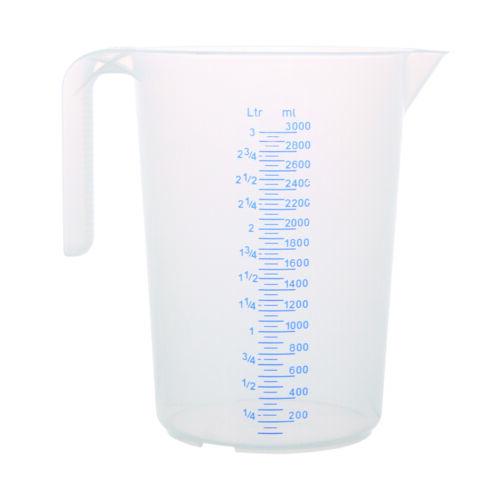 Messbecher Literbecher Maßbecher Messkanne stapelbar 0,5-5 Liter Deckel