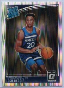 Josh-Okogie-Shock-Prizm-RATED-ROOKIE-card-194-T-Wolves-2018-19-Optic-Basketball