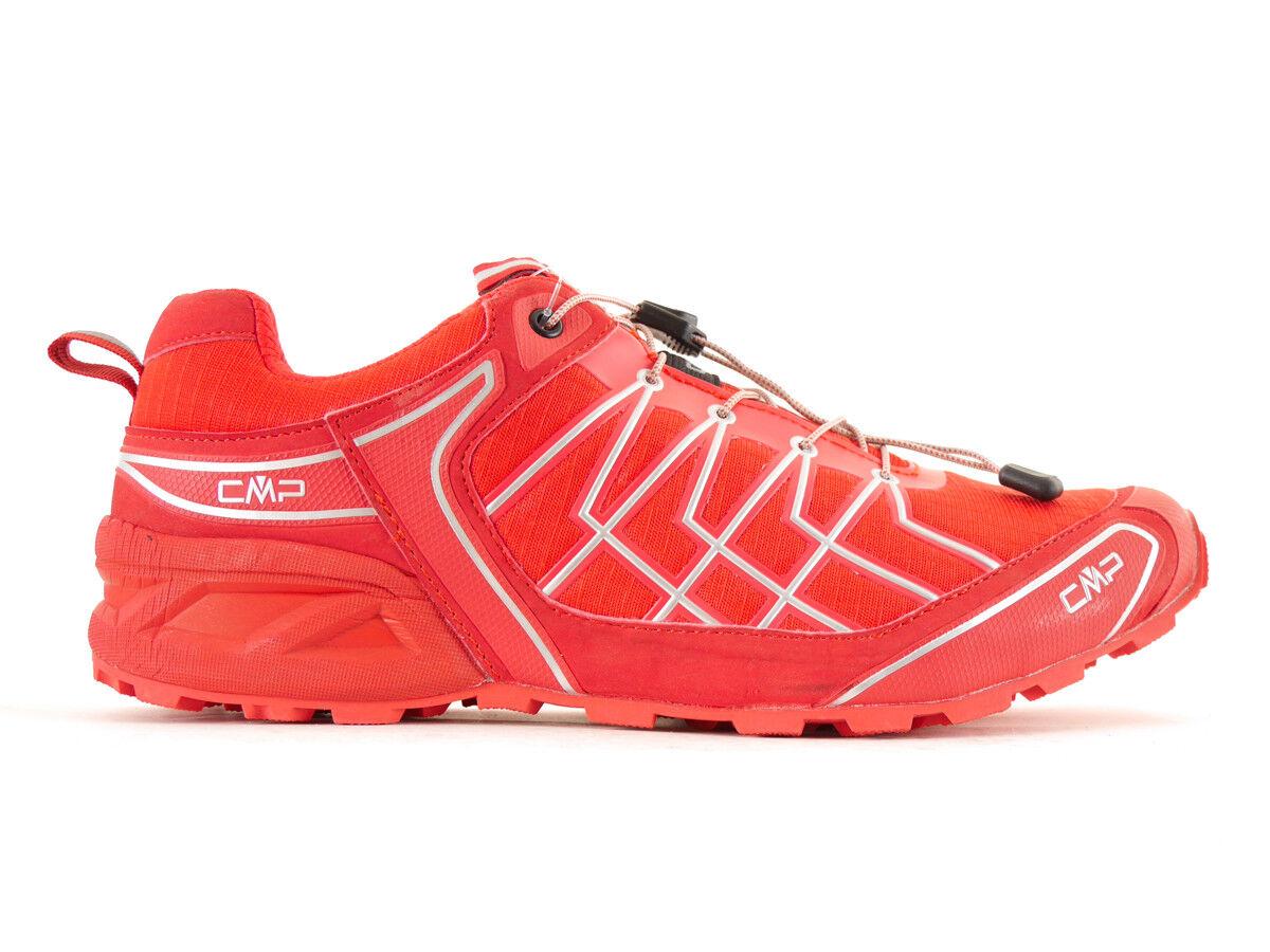 CMP Zapatos Running Zapatos de Correr Rojo Cierre Rápido Burl Ortholite