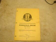Minneapolis Moline Gb Ub Zb Shop Manual